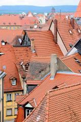 Ziegeldächer der Stadt Bamberg.
