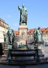 Maximiliansbrunnen in Bamberg - Bayrischer König Maximilian I, Joseph - Bildhauer Ferdinand von Miller.