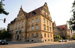 Gebäude Amtsgericht und Landgericht Regensburg. Fertig gestellt 1905 im Stil der Neurenaissance, Architekt Niedermayer.