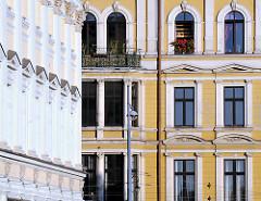 Architektur in Wroclaw, Breslau - Hausfassaden; Architeturfbilder.