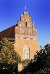 Fassade der gotischen Kirche St. Dorotheen in Wroclaw, Breslau - Polen.