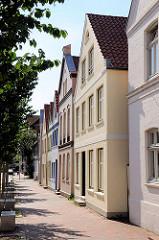 Renovierte Fassaden historischer Gebäude / Architektur in Itzehoe.
