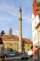 Minarett der ehem. Kethuda Moschee in Eger, Ungarn. Die Moschee wurde im 17. Jahrhundert gleich nach der Eroberung der Stadt durch die Türken im Jahre 1624 durch Arnaut Pascha errichtet und nach der Rückeroberung der Stadt durch Karl von Lothringen w