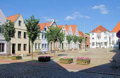Historische Architektur am Markt von Itzehoe.