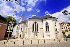Kirche, Kapelle St. Katharinenspital in Regensburg. Pfarrkirche errichtet um 1235.
