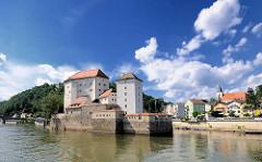 Veste Niederhaus auf der Landzunge Zusammenfluss von Donau und Ilz.