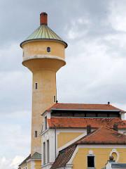 Heiz- und Wasserturm beim Schlachthof in Bamberg.