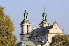 Skałka Kirche in Krakau / Kraków -  Kirche auf dem Felsen,  Kirche des Erzengels Michael und des hl. Bischofs und Märtyrers Stanislaus.