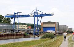 Hafen und Werftanlage in Boizenburg / Elbe.