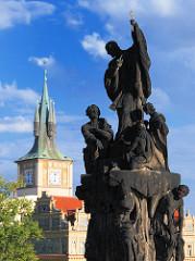 Skulptur / Bauschmuck auf der Karlsbrücke -