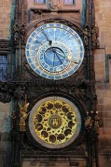 Prager Rathausuhr, auch Aposteluhr oder Altstädter Astronomische Uhr -  astronomische Uhr aus dem Jahr 1410