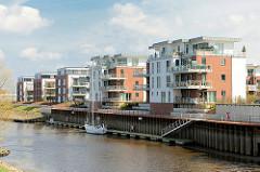 Wohnen am Hafen Stades - moderne Neubauwohnungen direkt an der Schwinge und dem Hafenrand der Hansestadt.