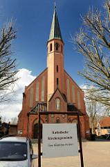 Katholische Kirche Zum göttlichen Erlöser in Ulzen - erbaut 1905.