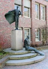Bronzeskulpturen in der Bahnhofstrasse von Uelzen.