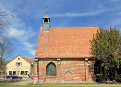 Seitenansicht der Gertrudenkapelle in Uelzen - 1513 am Gudestor errichtet; Architekt Hans Holsteke.