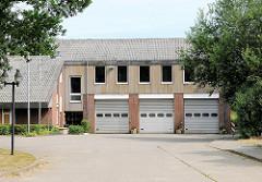 Neues Gebäude der Freiwilligen Feuerwehr in Bünningstedt, Ammersbek.