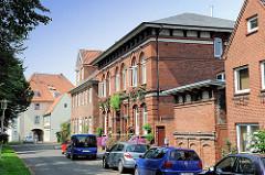 Wohngebäude - Ziegelarchitektur, Backsteinarchitektur in Glückstadt / Unterelbe.