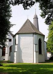 Glückstädter Kirche - erbaut 1623; der Turm stürzte währen der Holsteiner Katastophe (1648); 1651 neu erbaut.