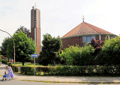 Kirchengebäude an der Königsberger Strasse in Glückstadt.