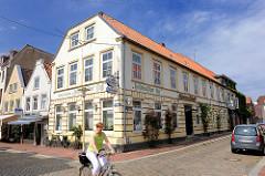 Holsteinischer Hof, Hotel Thiessen in Glückstadt - Grosse Kremperstrasse / Kleine Kremper Strasse.