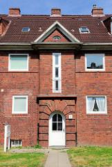 Backsteinsiedlung an der Gorch Fock Strasse in Glückstadt.
