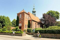 Schlosskirche Ahrensburg, Schleswig Holstein - errichtet 1595, nachgotischer Backsteinbau.