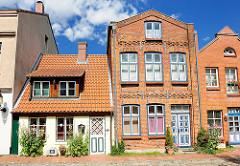 Historische Häuser  - Wohnhäuser; Architektur in Bad Oldesloe, Kreisstadt Stormarn.