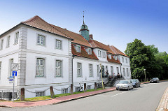 Rantzau Palais am Binnenhafen in Glückstadt - erbaut 1643; ab 1736 wurde das Gebäude ein Zuchthaus / Tollhaus; heutige Wohnnutzung.