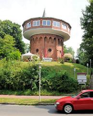 Alter Wasserturm in Glückstadt - errichtet 1891 auf einer ehem. Bastion der Festungsanlagen der Stadt.