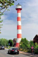 Leuchtfeuer, Richtfeuer Glückstadt - Leuchtturm an der Strasse Am Neuendeich.