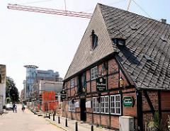 Denkmalgeschütztes Fachwerkhaus - Rauchhaus in Ahrensburg, Schleswig Holstein.