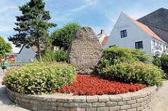 Gedenkstein Befreiung 6. Februar 1864 - Strasse Lollfuss in der Stadt Schleswig.