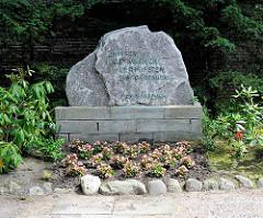 Gedenkstein Gemeinde Wulksfelde / Rade, Gemeinde Tangstedt - Kreis Stormarn.