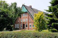 Reetgedecktes Bauernhaus in Wakendorf II, Kreis Stormarn.