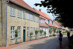 Wohnhäuser in der Norderholmstrasse von Holm, dem Fischerviertel von Schleswig.