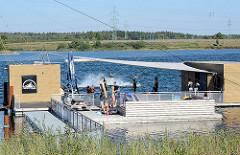 Wasserskianlage im Noderstedter Stadtpark.