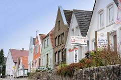 Fischrestaurants und Fischräucherein - historische Einzelhäuser in Kappeln - Dehnthof.