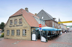 Historisches Gebäude - Café Alte Schmiede; Schmiedestrasse in Kappeln.