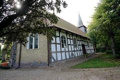 Schifferkirche von 1673 in Arnis, Schleswig Holstein.