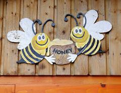 Bienendekor - Honigtopf / Honey.