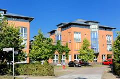 Bürogebäude - Geschäftshaus; Neubauten in der Stadt Norderstedt - Schleswig Holstein.