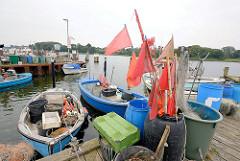 Kleinfischerei - Hafen von Kappeln an der Schlei.