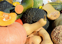 Herbstmarkt - Kunsthandwerkermarkt im Norderstedter Stadtpark - Herbstfrüchte, Kürbis.