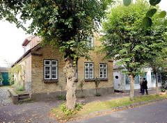 Wohnhaus / Einzelhaus; Architektur in Arnis ( Lange Strasse ), Schleswig Holstein.