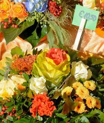 Herbstmarkt - Kunsthandwerkermarkt im Norderstedter Stadtpark - Herbstblumen, Herbststräusse.