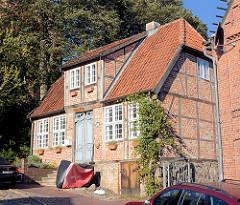 Historisches Fachwerkhaus in der Altstadt von Mölln.