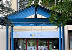 Eingang Lungenklinik Grosshansdorf - Kreis Stormarn.