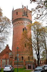 Wasserturm der Hansestadt Wismar - neogotisce Backsteinarchitektur, erbaut 1897.