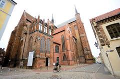 Sankt Georgen Kirche in Wismar - errichtet zwischen 1290 und 1500; Backsteinkathedrale / Backsteingotik.