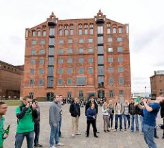 Speichergebäude am Hafen der Hansestadt Wismar - Industriearchitektur.